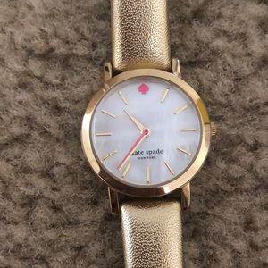 Gold Kate spade leather watch